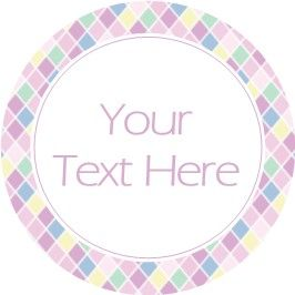 Any Occasion Your Text Stickers Pink Diamond