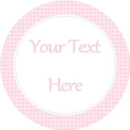 Any Occasion Your Text Stickers Pink Gingham