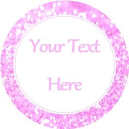 Any Occasion Your Text Stickers Pink Glitter