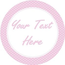 Any Occasion Your Text Stickers Pink Polka Dot