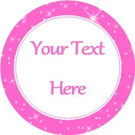 Any Occasion Your Text Stickers Pink Sparkle