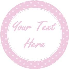 Any Occasion Your Text Stickers Pink Spots