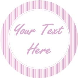 Any Occasion Your Text Stickers Pink Stripes