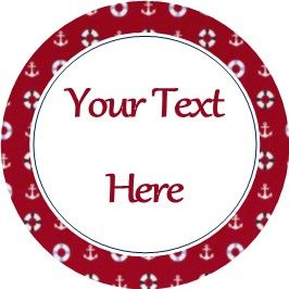 Any Occasion Your Text Stickers Red Blue Nautical