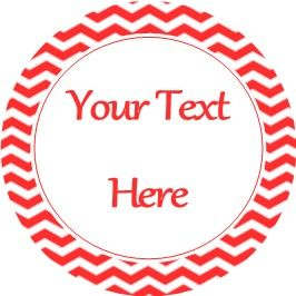 Any Occasion Your Text Stickers Red Chevron