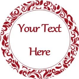 Any Occasion Your Text Stickers Red Damask