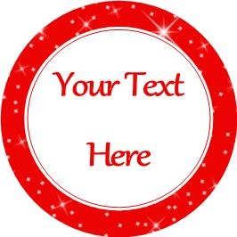 Any Occasion Your Text Stickers Red Sparkle