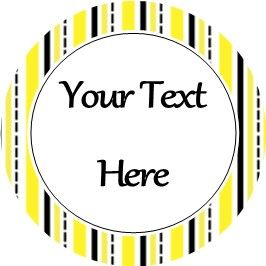 Any Occasion Your Text Stickers Yellow Black Stripe