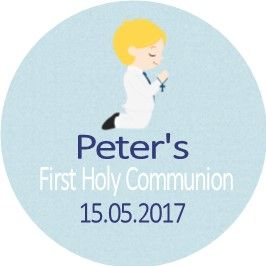 Blonde Hair Boy Communion Sticker