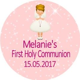 Blonde Hair Girl Communion Sticker