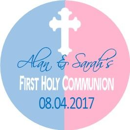 Boy Girl Cross Communion Sticker