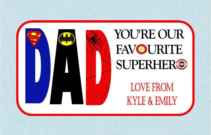 fathers day chocolate bar wrapper design 1