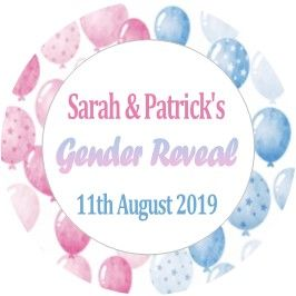 Gender Reveal Sticker Design 5