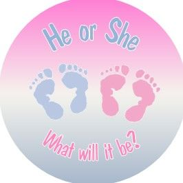 Gender Reveal Sticker Design 7