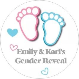 Gender Reveal Sticker Design 8