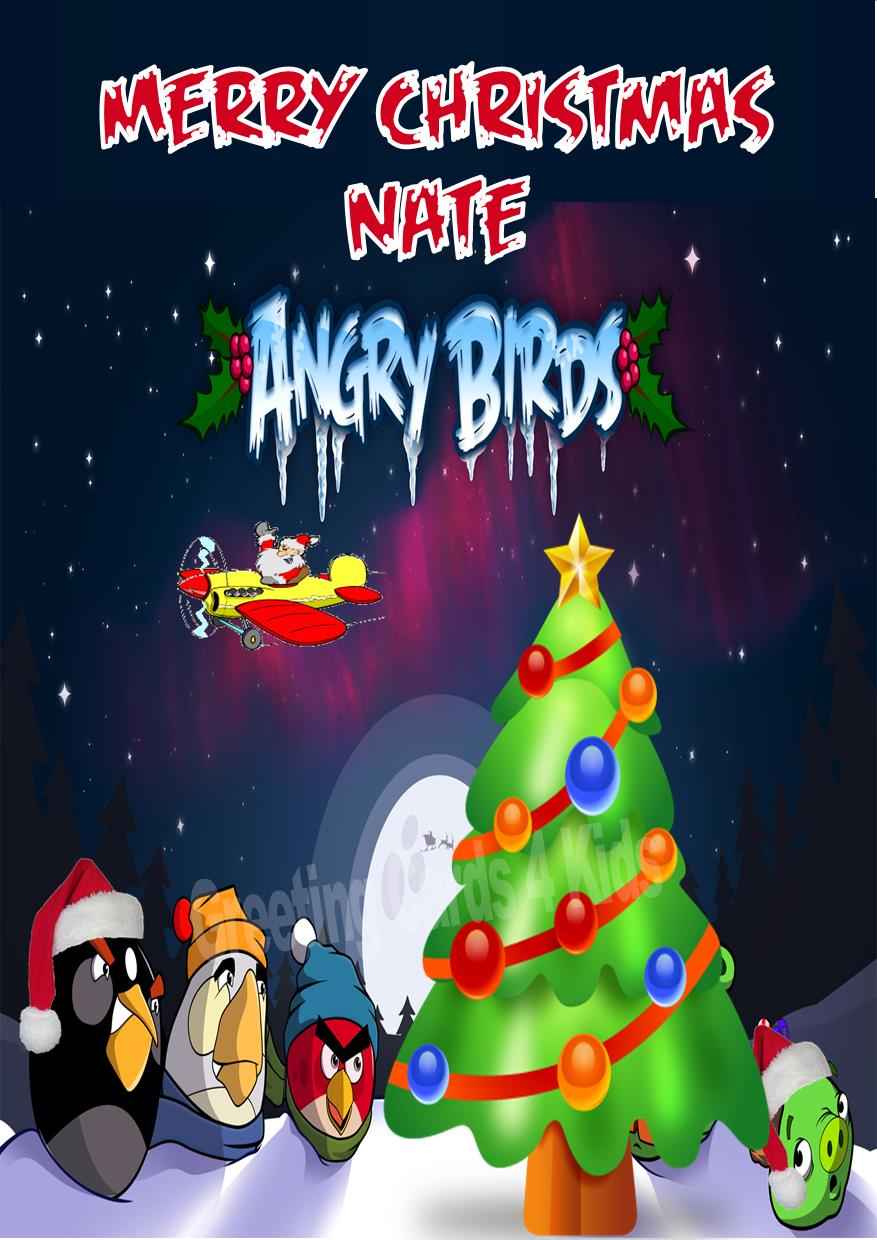 personalised angry birds christmas card - Christmas Angry Birds