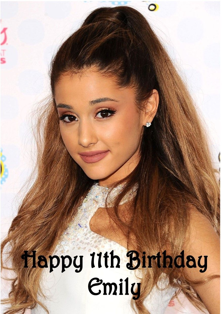ARIANA GRANDE 3 Personalised Birthday Card AGE!!..Unique!! ANY NAME// RELATION