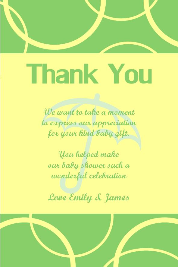 Personalised Baby Shower Thank You Card Design 11