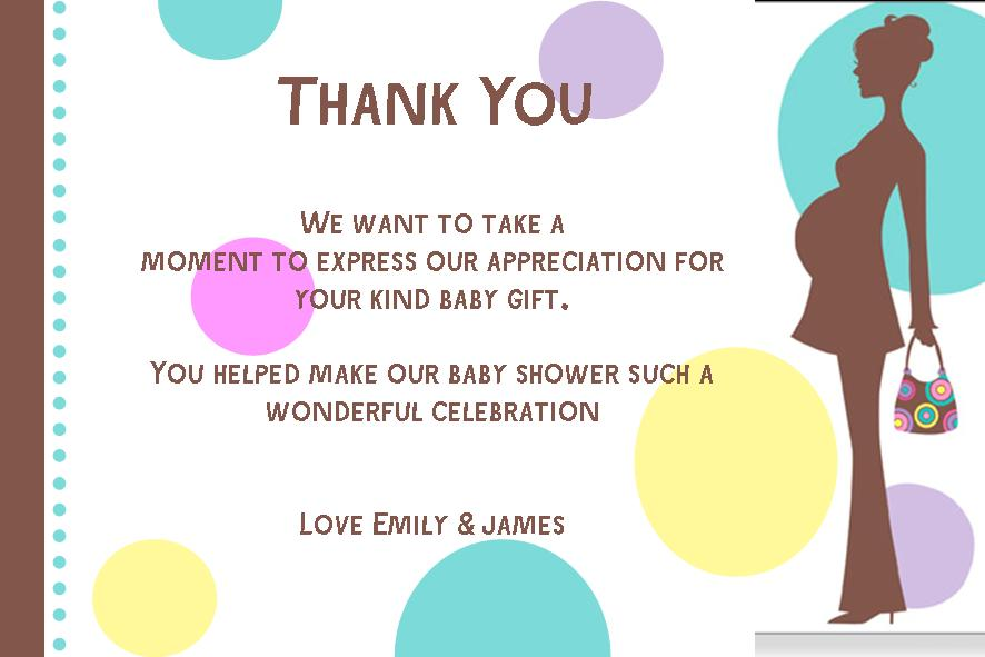 Personalised Baby Shower Thank You Card Design 2