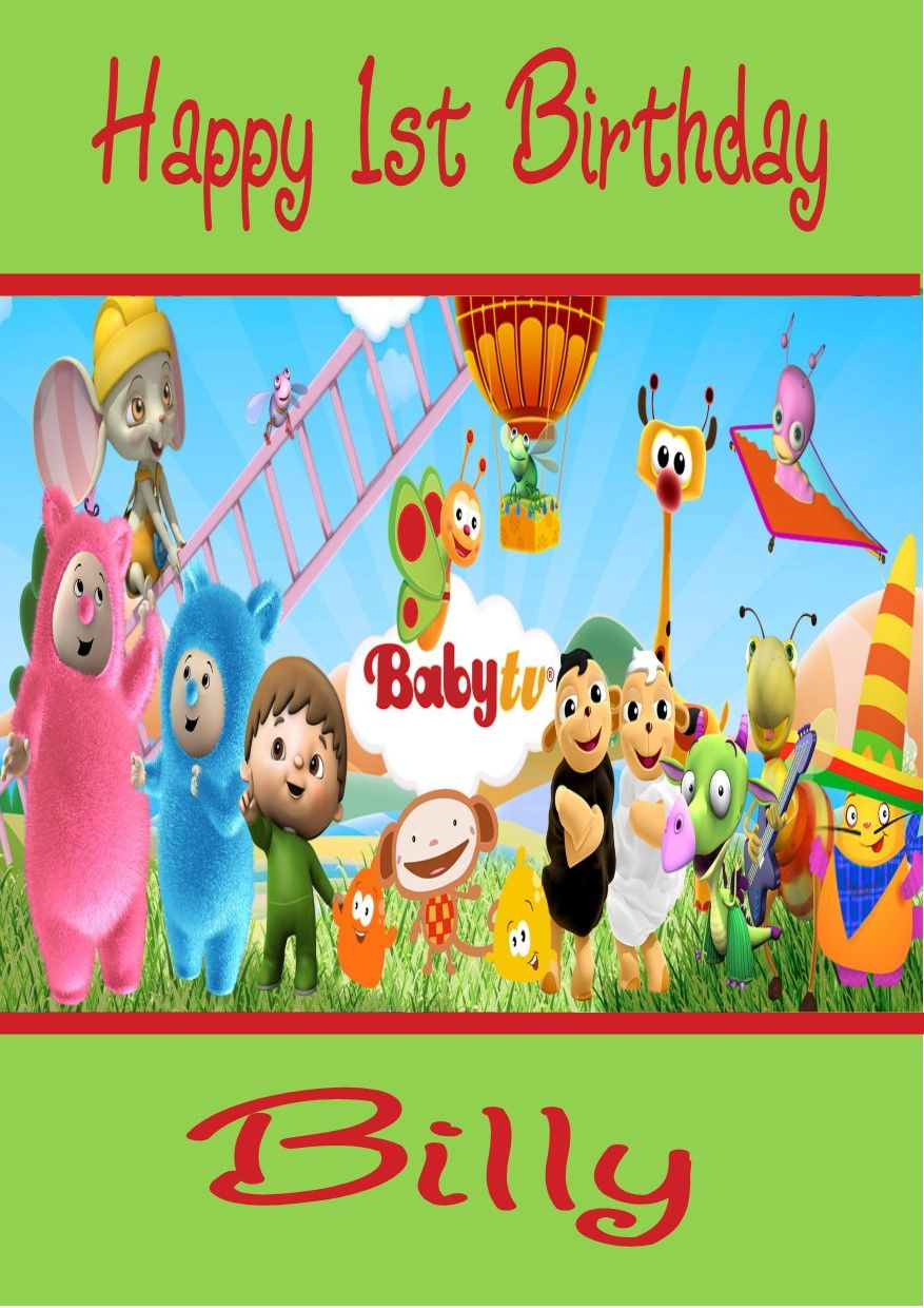 Personalised Baby Tv Billy Bam Characters Birthday Card 3705 P
