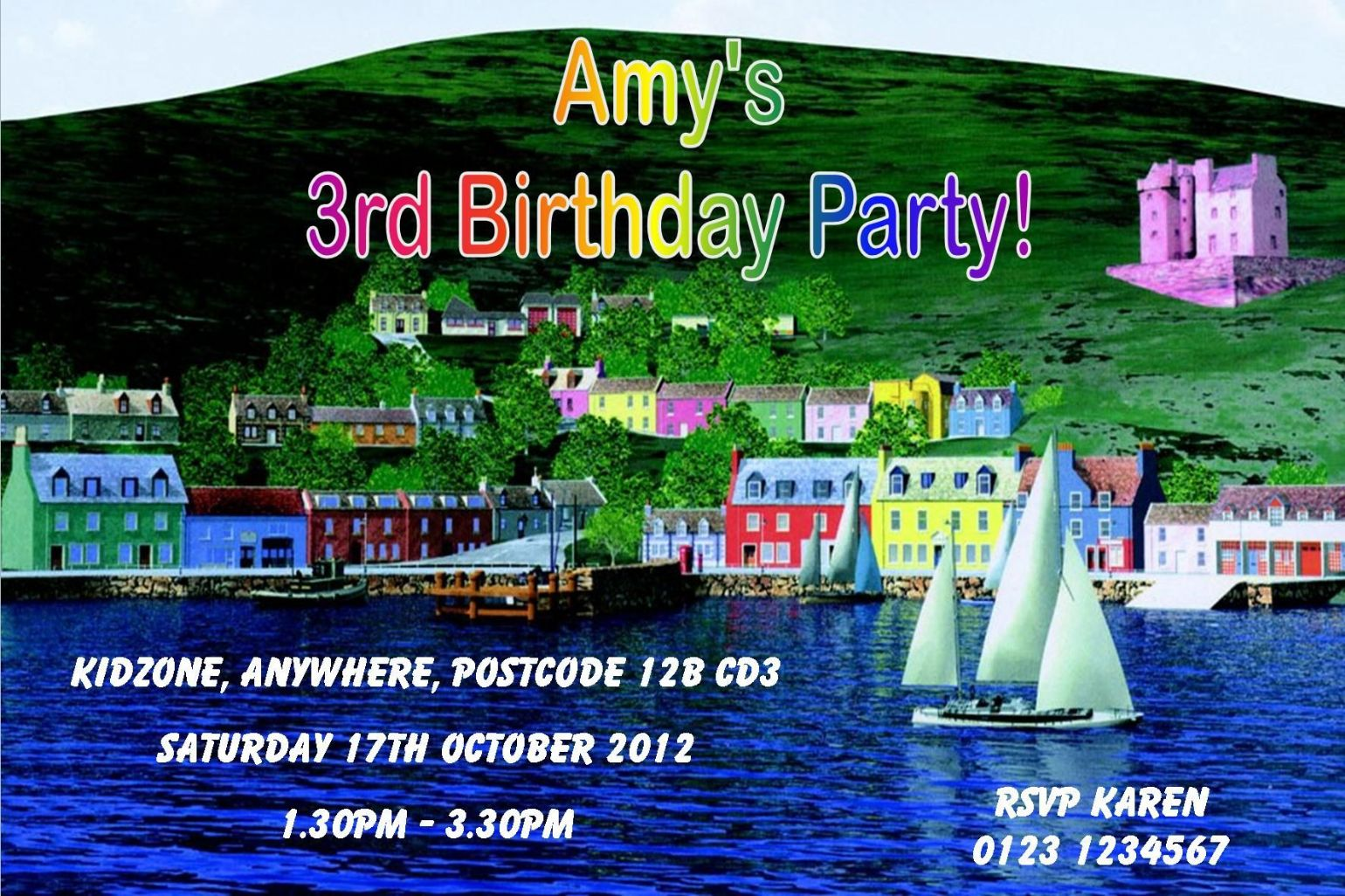 Bedroom Door Signs Personalised Balamory Invitations