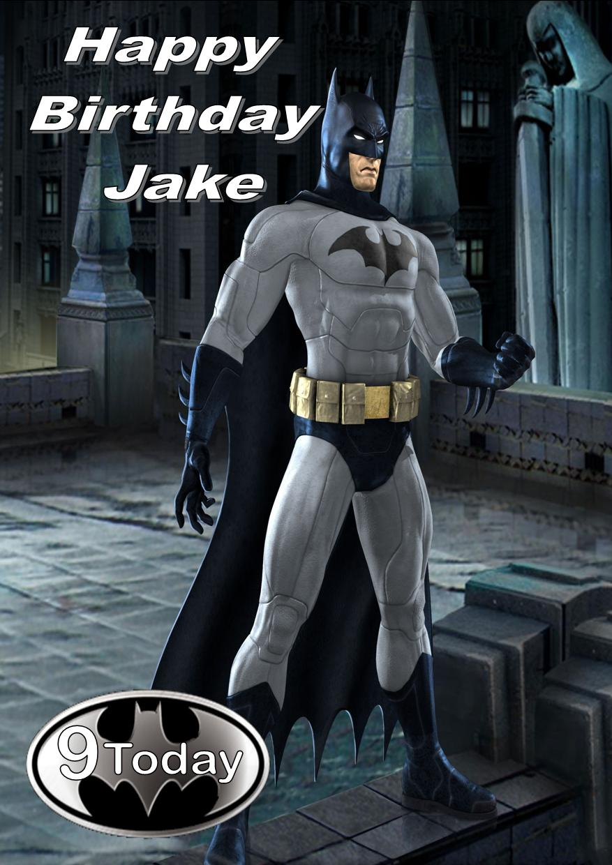 picture relating to Batman Printable Birthday Card identified as Individualized Batman Birthday Card