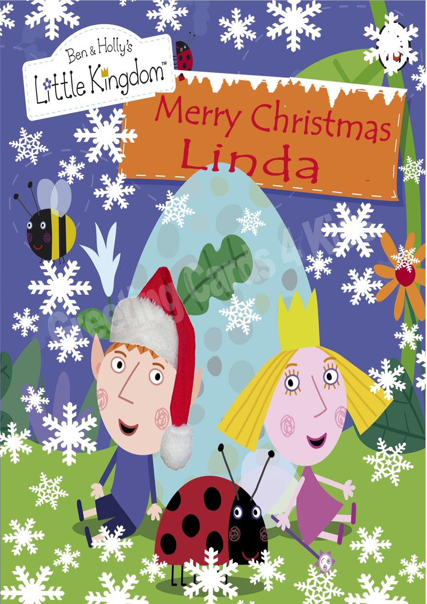 personalised ben holly christmas card - Ben And Holly Christmas