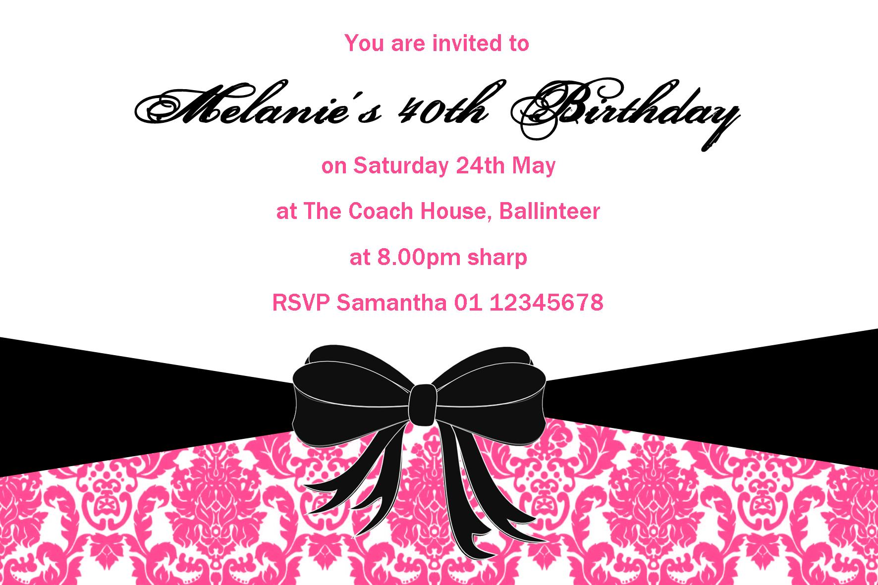 Personalised birthday invitation design 15 filmwisefo
