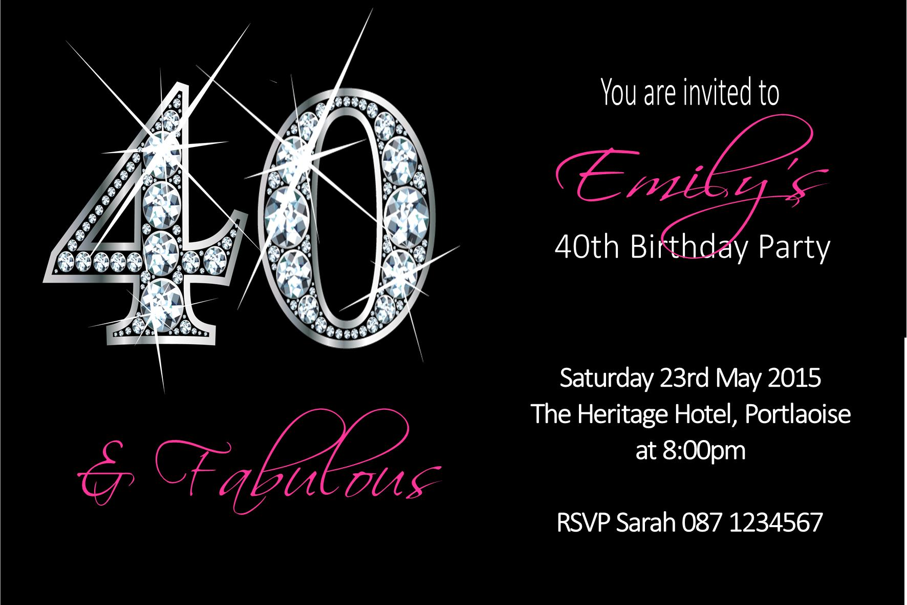 Personalised Birthday Invitation Design 41 2809 P