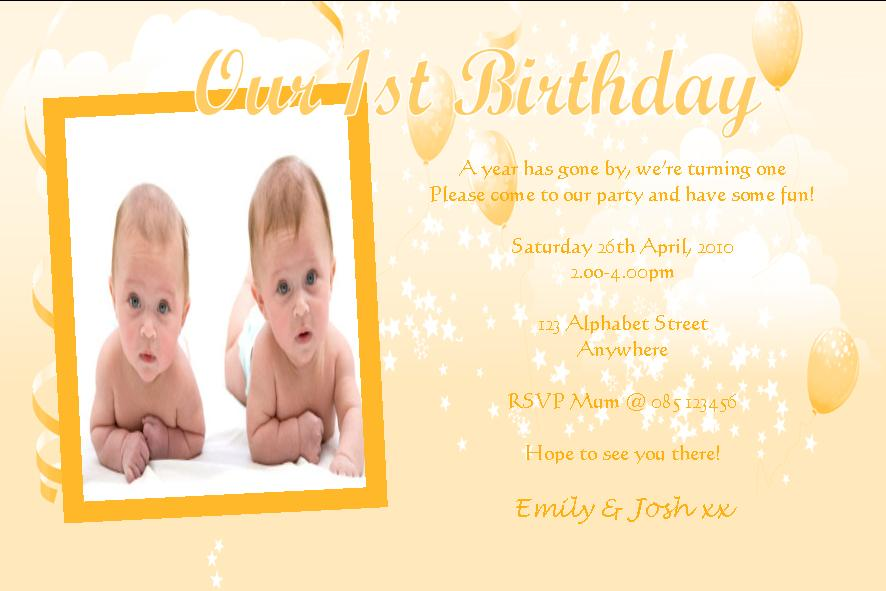 Personalised Birthday Photo Invitations