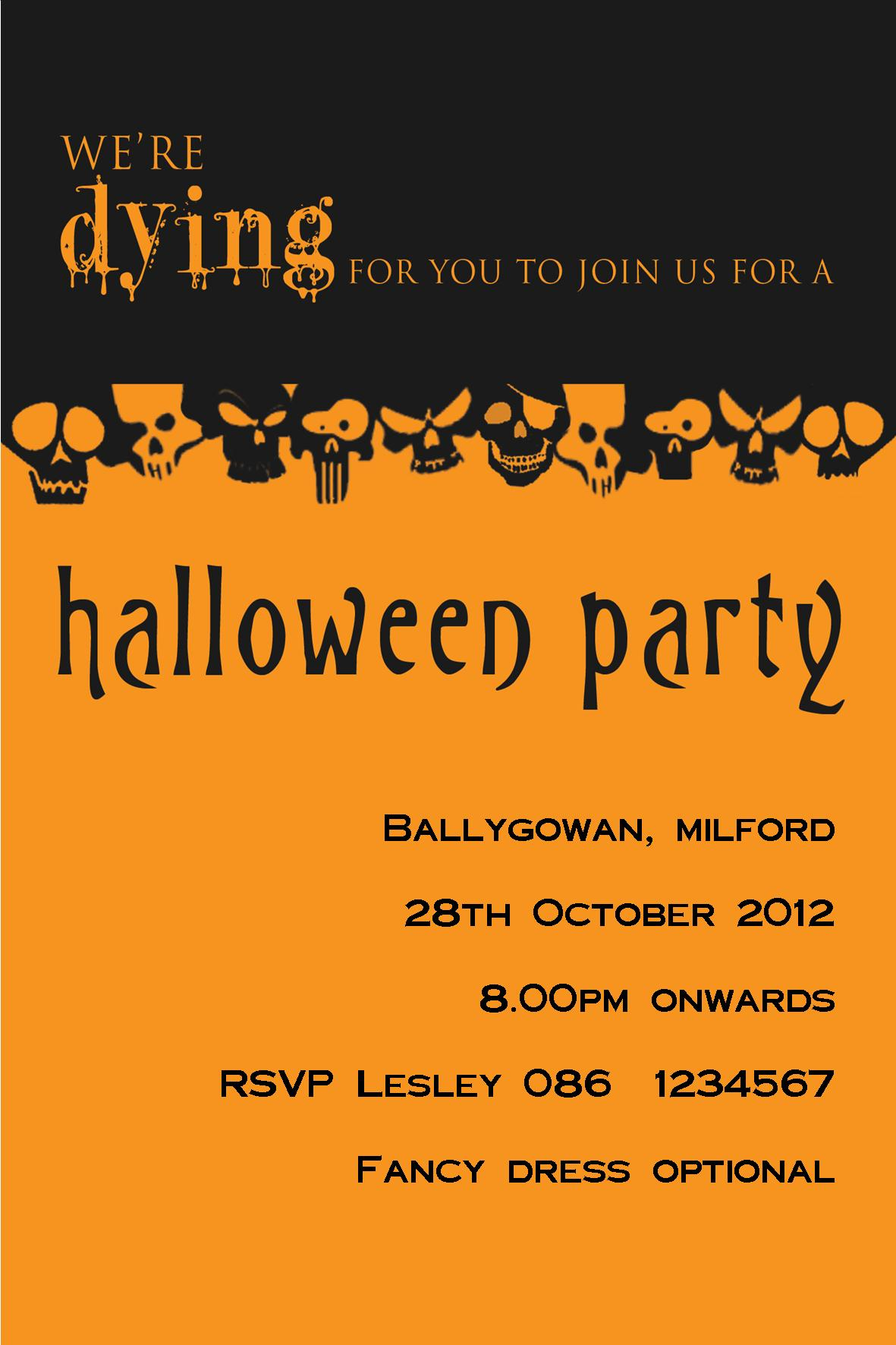 Bedroom Door Signs Personalised Black Orange Halloween Invitation