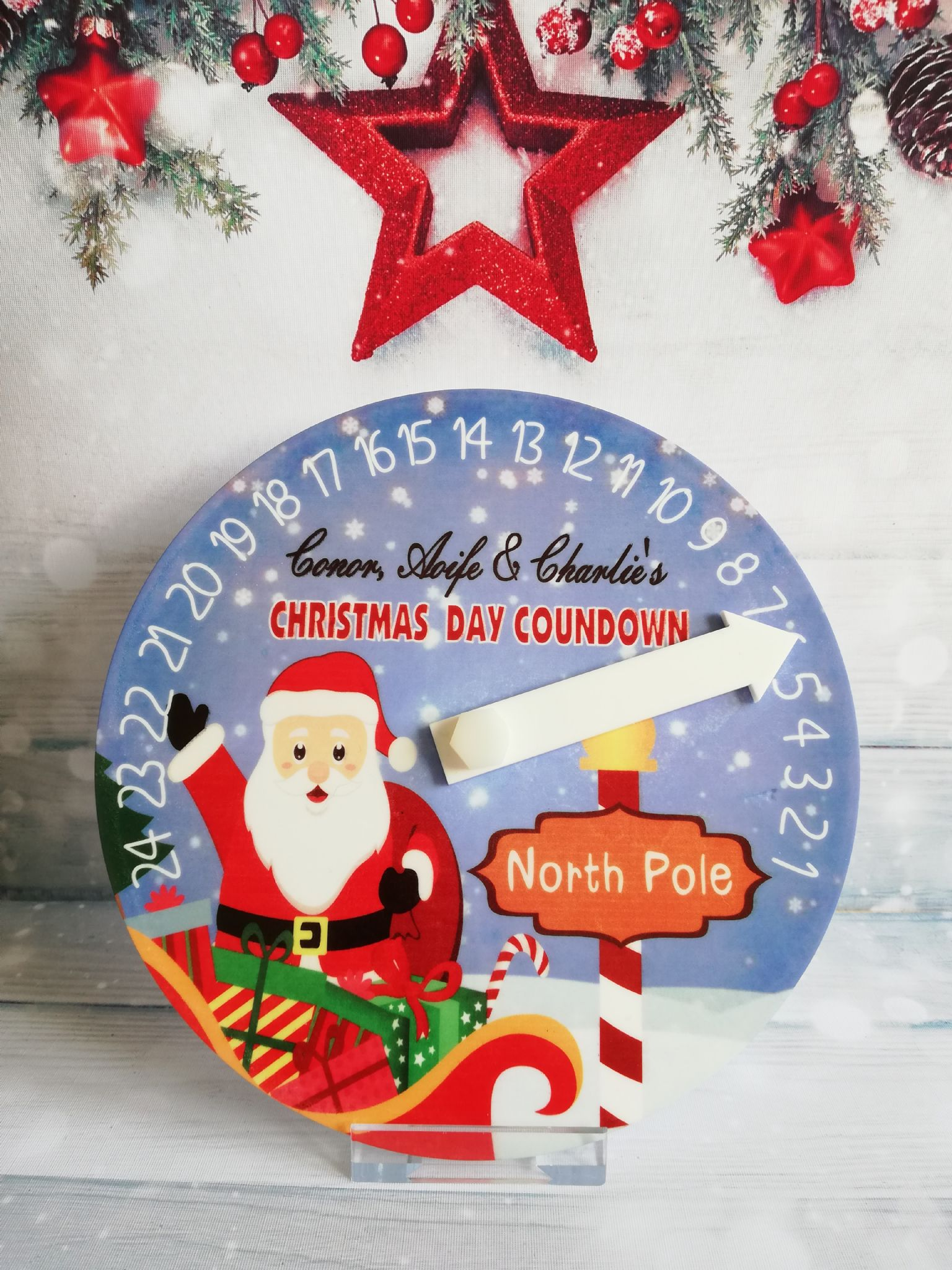 Countdown To Christmas Clock.Personalised Countdown To Christmas Clock 2