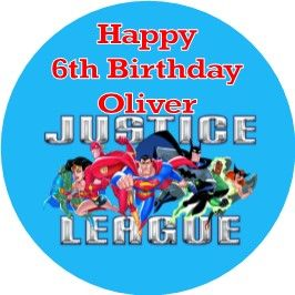 Personalised Edible Justice League Superheros Cake Topper 5556 1 P