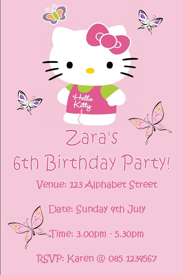 personalised hello kitty invitations design 1 532 p