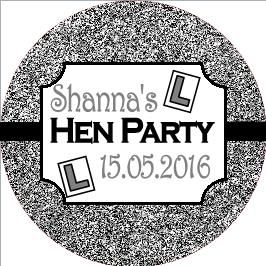 Personalised Hen Night Sticker Design 17