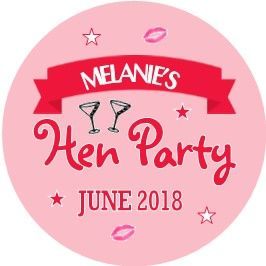 Personalised Hen Night Sticker Design 20