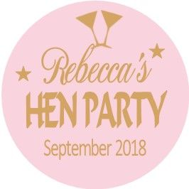 Personalised Hen Night Sticker Design 24