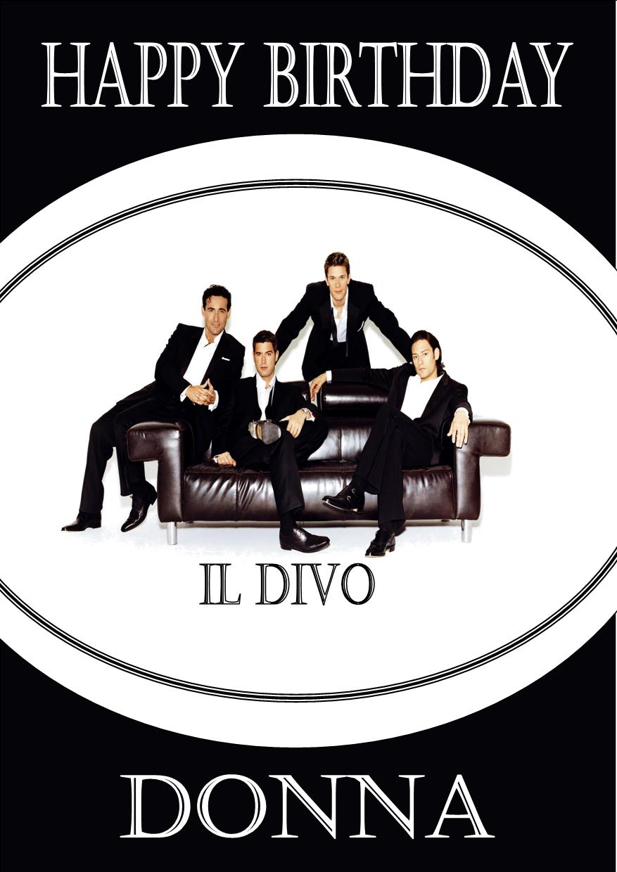 Personalised IL DIVO Birthday Card