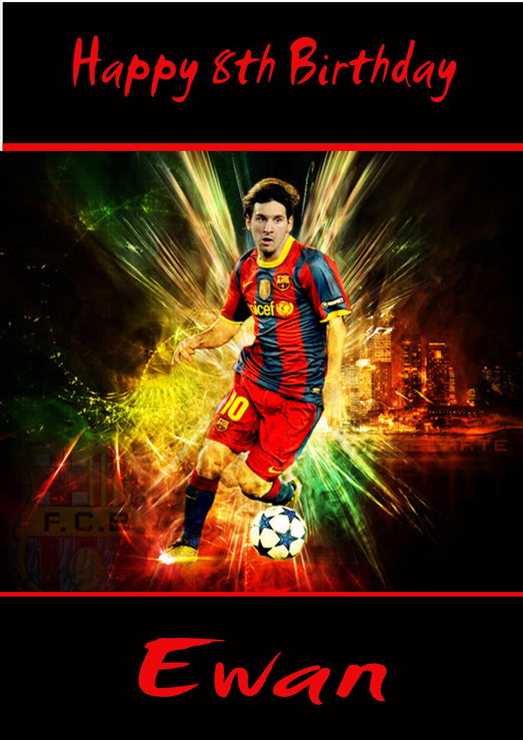 Personalised Lionel Messi Birthday Card