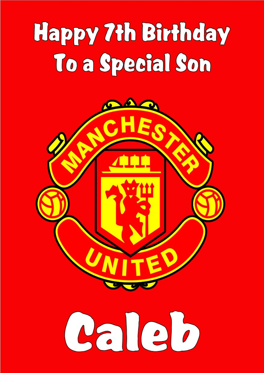 Personalised Manchester United Birthday Card