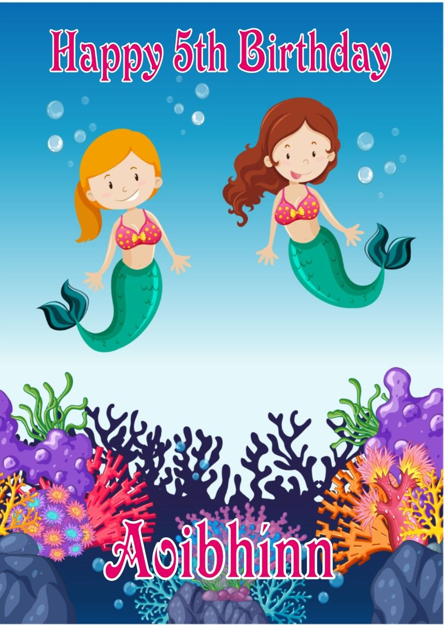 Personalised Mermaids Birthday Card 5148 P