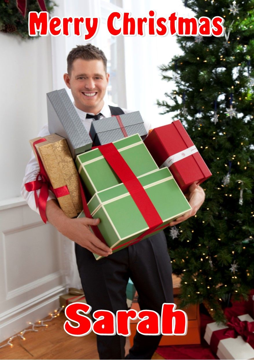 Personalised Michael Bublé Christmas Card