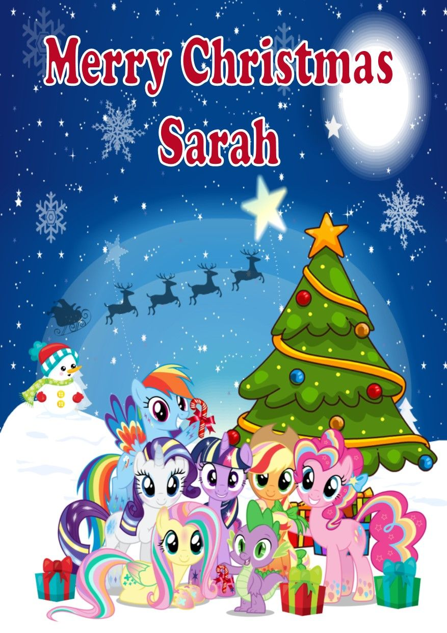 Personalised My Little Pony Christmas Card