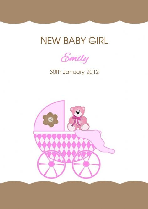 Personalised New Baby Boy Card New Son New Arrival Card Train with Animals
