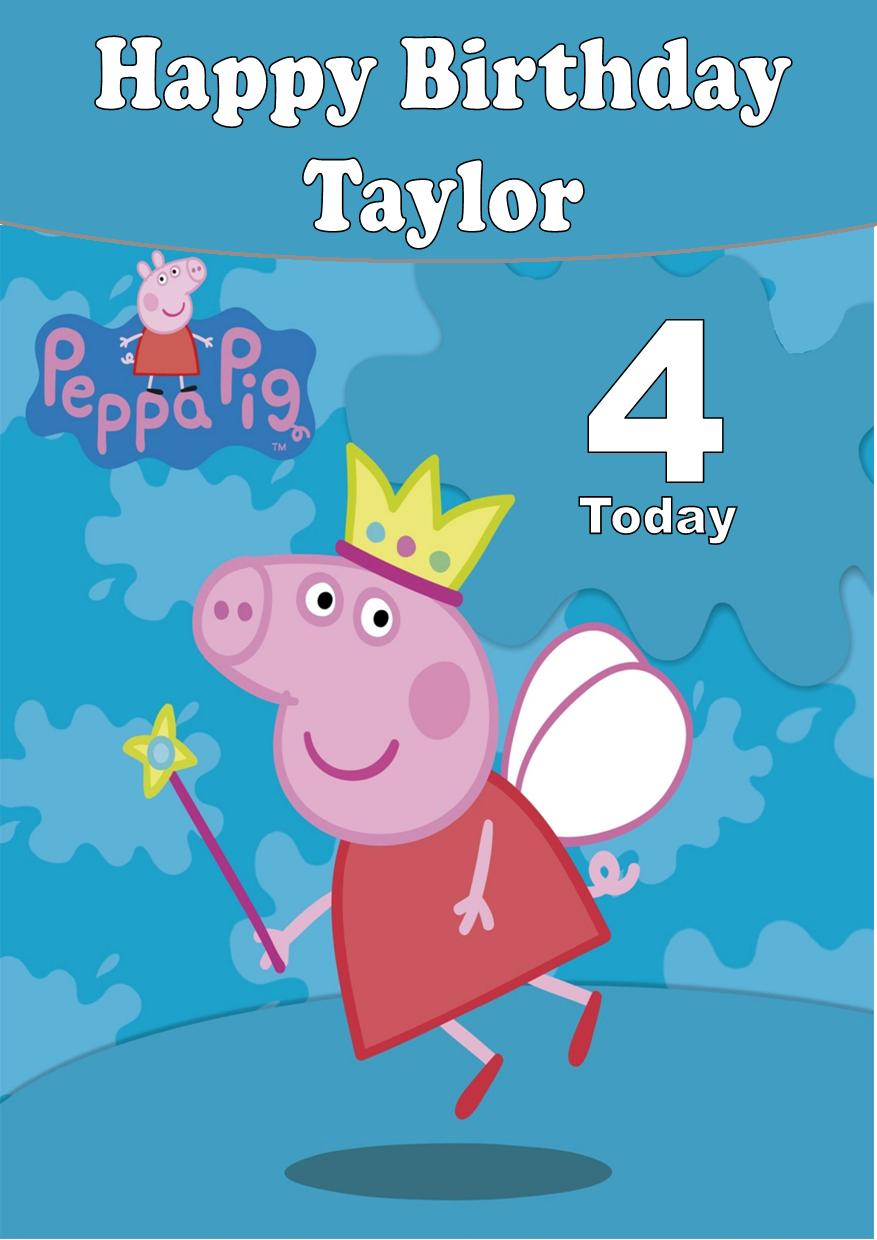 Personalised Peppa Pig Birthday Card 2 1254 P