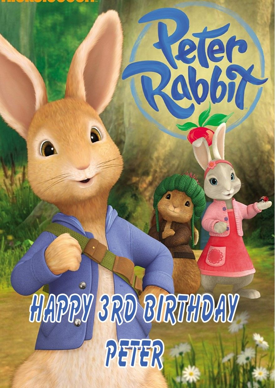 Personalised Peter Rabbit Birthday Card 5636 P
