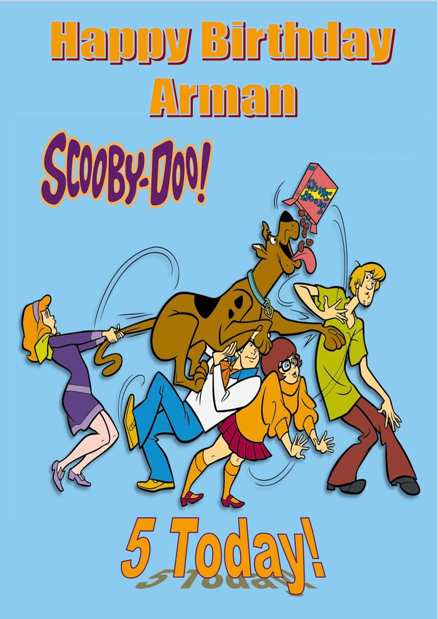 Personalised Scooby Doo Birthday Card