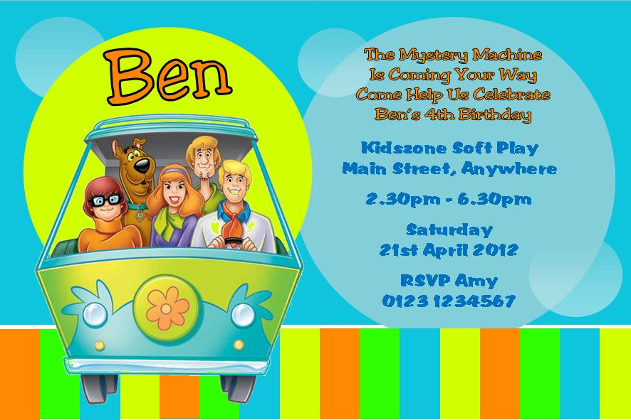 personalised scooby doo invitations