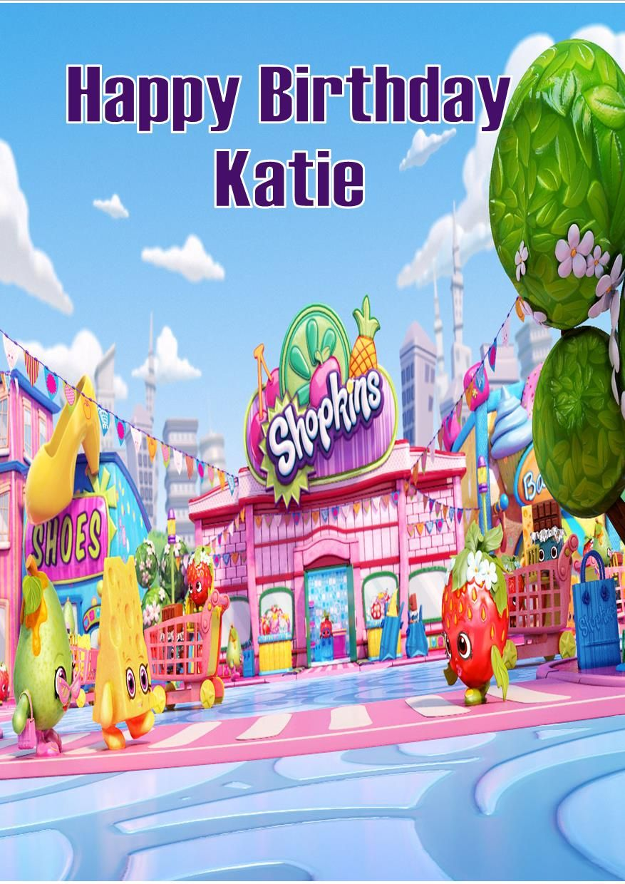 picture relating to Shopkins Birthday Card Printable known as Personalized Shopkins Birthday Card