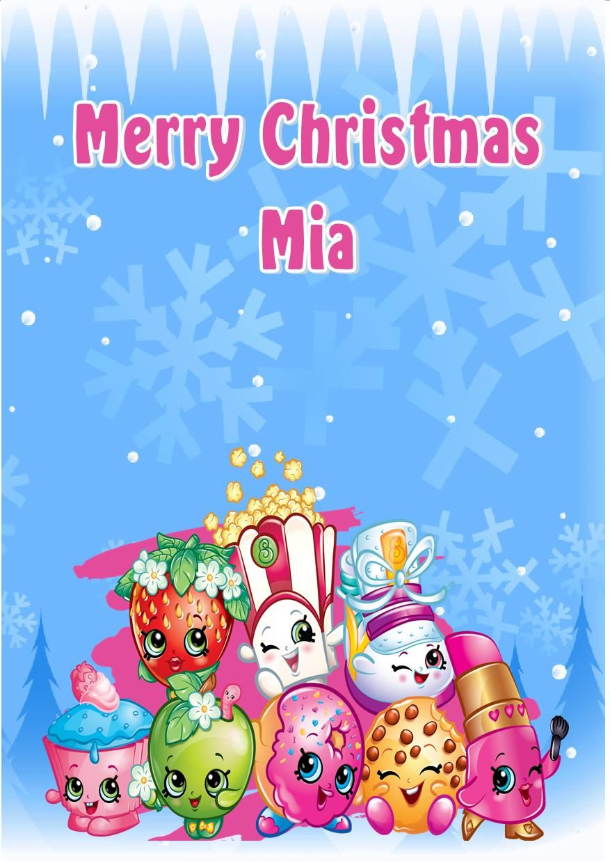 Personalised Shopkins Christmas Card